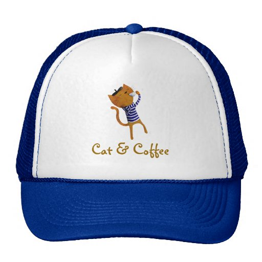 French Cool Cat Mesh Hats
