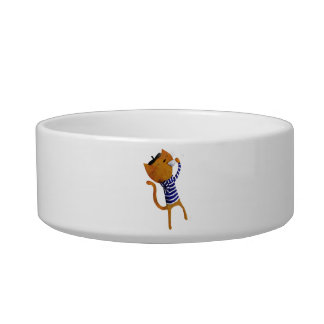 French Cool Cat Pet Bowl
