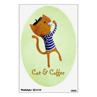 French Cool Cat Wall Decal