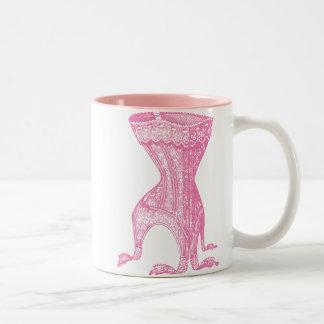 French Corset Pink Two-Tone Coffee Mug