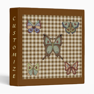 French Country Autumn Butterflies Avery Binder
