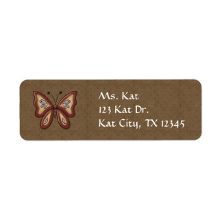 French Country Autumn Butterfly Label
