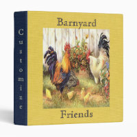 French Country Barnyard Friends Avery Binder