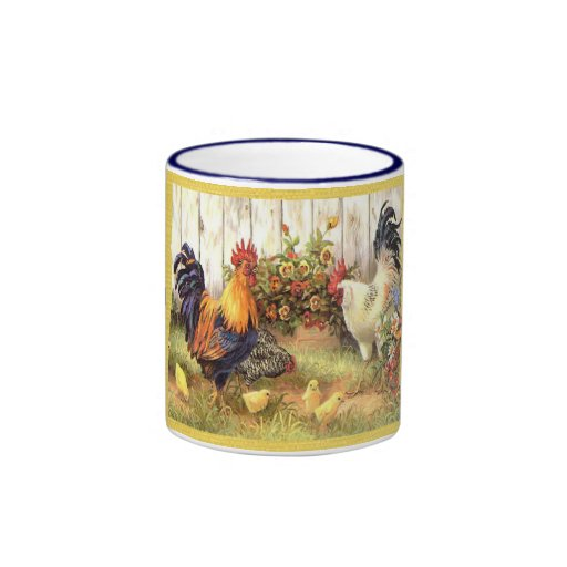 French Country Barnyard Friends Coffee Cup Mug