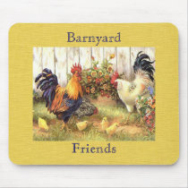 French Country Barnyard Friends Mousepad