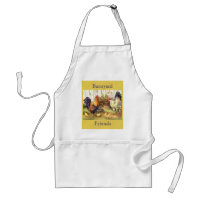 French Country Barnyard Friends Rooster/Hen Apron