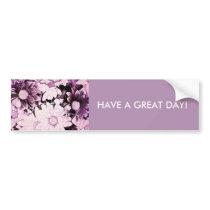 French country boho chic wildflower purple daisy bumper sticker