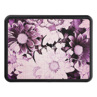 French country boho chic wildflower purple daisy tow hitch cover