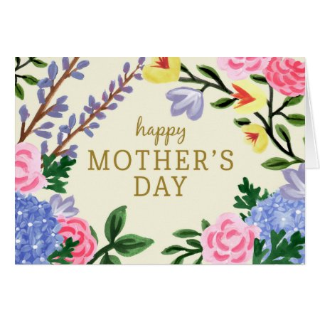 French Country Botanical Mother's Day Card