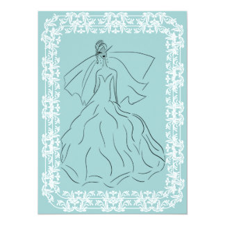 French Country Bride Card