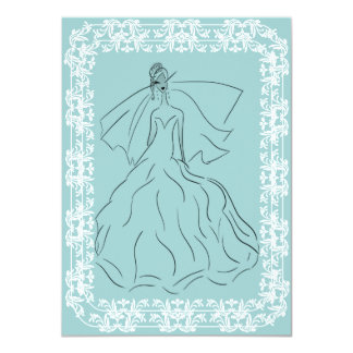 French Country Bride 4.5x6.25 Paper Invitation Card