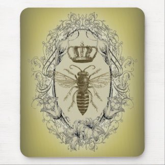 french country chic victorian crown queen bee mouse pad