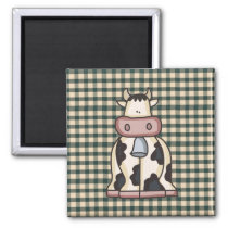 French Country Cow Fridge Magnet