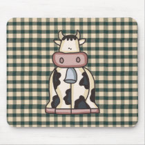French Country Cow Mousepad