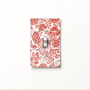 French Country Decor Red Toile Light Switch Cover