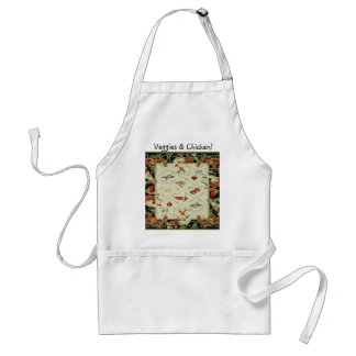 French Country Design Veggies & Chicken Apron