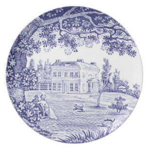French Country Dinnerware - Blue Toile Plate  sc 1 st  Zazzle & French Toile Plates | Zazzle