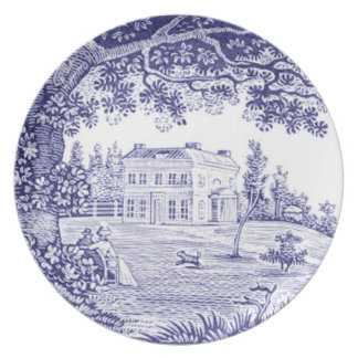 French Country Dinnerware - Blue Toile Plate