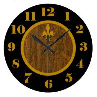 French Country Fleur de Lis Clock
