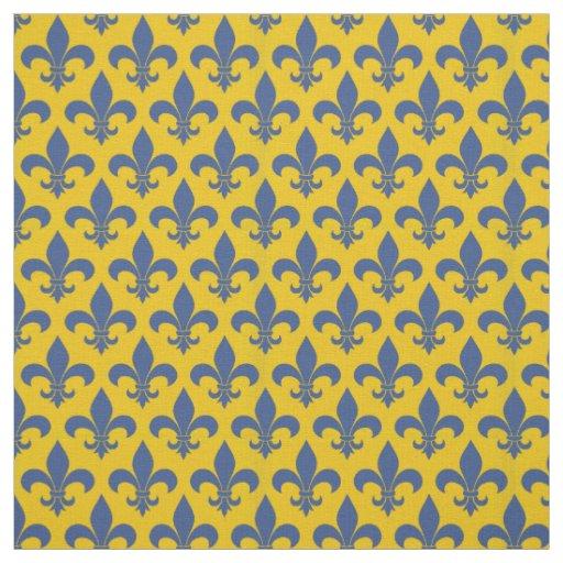 French Country Fleur De Lis Pattern Design Fabric Zazzle Com