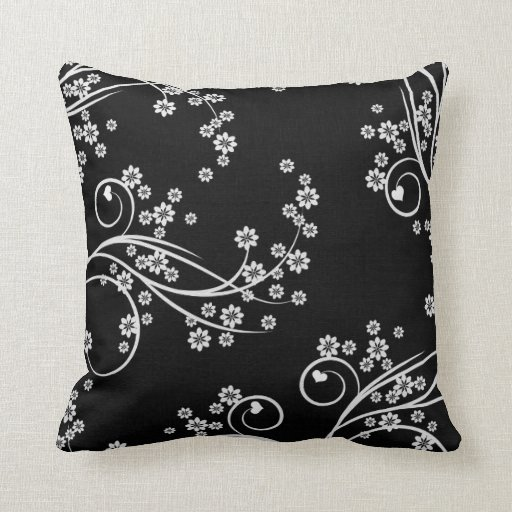French Country Floral Hearts MoJo Throw Pillow
