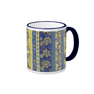 French Country Floral Ringer Coffee Mug