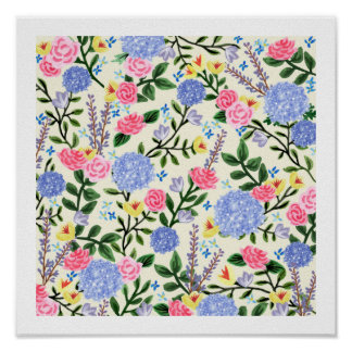 "French Country Garden Art Print 12"" x 12"""