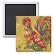French Country Gold Rooster Fridge Magnet