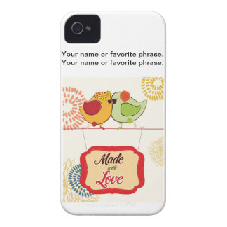 French Country Kitchen - Bird on floral. iPhone 4 Case-Mate Case