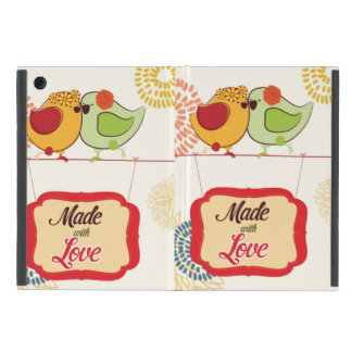 French Country Kitchen - Bird on floral. Cover For iPad Mini