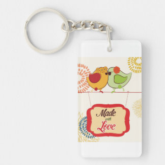 French Country Kitchen - Bird on floral. Acrylic Keychains
