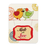 French Country Kitchen - Bird on floral. Vinyl Magnet
