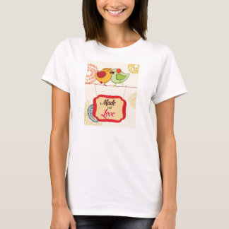 French Country Kitchen - Bird on floral. T-Shirt