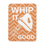 French Country Kitchen - Hand mixer on chevron. Rectangle Magnet