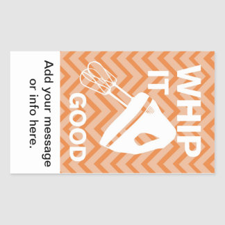 French Country Kitchen - Hand mixer on chevron. Rectangular Sticker