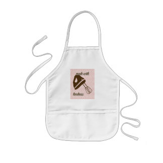 French Country Kitchen - Hand Mixer on Damask Kids' Apron