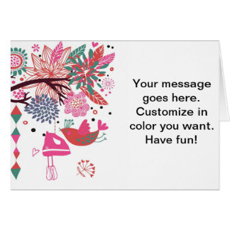 French Country Kitchen - Hand mixer on floral. Card