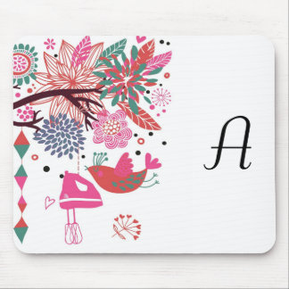 French Country Kitchen - Hand mixer on floral. Mouse Pad