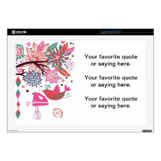 French Country Kitchen - Hand mixer on floral. Laptop Decals