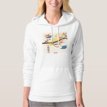French Country Kitchen - Pans on floral pattern. Hoodie