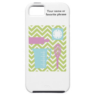 French Country Kitchen - Utensils on chevron. iPhone 5 Cases