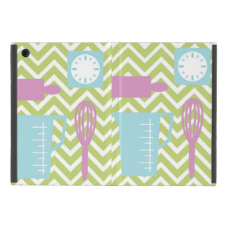 French Country Kitchen - Utensils on chevron. iPad Mini Covers