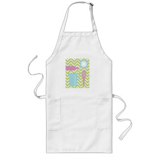 French Country Kitchen - Utensils on chevron. Long Apron