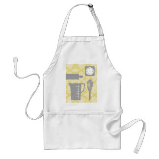 French Country Kitchen - Utensils on damask floral Adult Apron