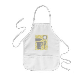 French Country Kitchen - Utensils on damask floral Kids' Apron