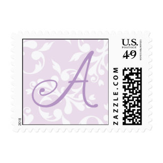 French Country Lavender Monogram A Postage