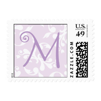 French Country Lavender Monogram M Postage