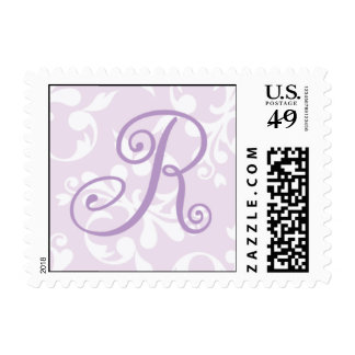 French Country Lavender Monogram R Postage