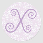 French Country Lavender Monogram X Sticker