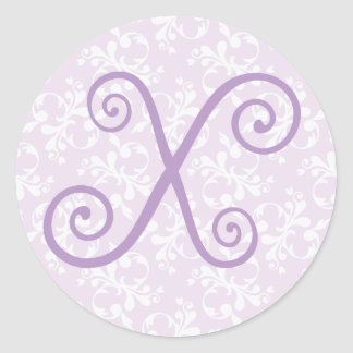 French Country Lavender Monogram X Sticker